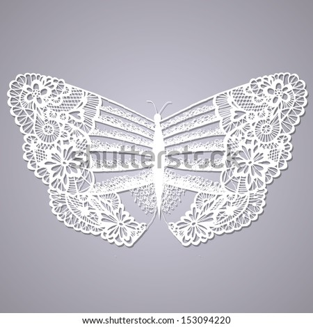 lacy butterfly abstract hand