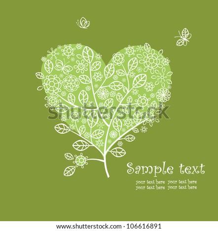 lacy greeting beautiful tree