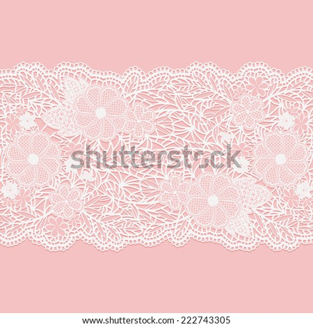 lacy white seamless pattern of