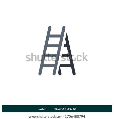 ladder icon vector design element logo template Stock photo ©