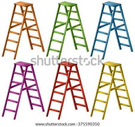 ladder in six colors...