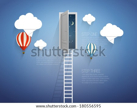 ladder into the sky vector