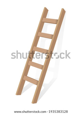 Ladder on a white background. Vector illustration. Stock photo ©