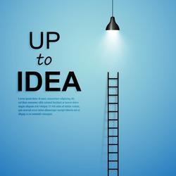 Ladder to idea. Vector minimalistic design competition concept.