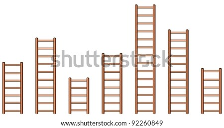 Ladders in different length
