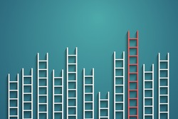 ladders on wall ,competition concept, vector eps10