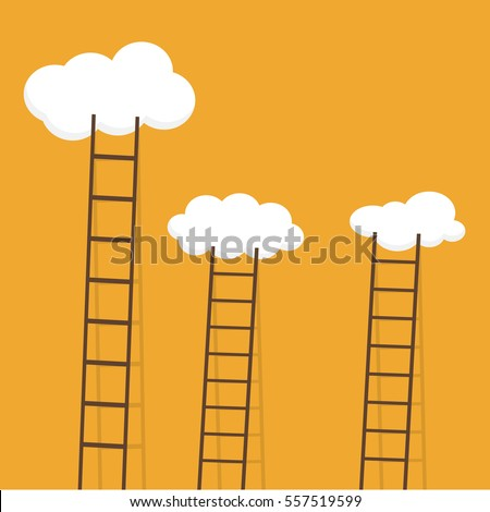 ladders with clouds