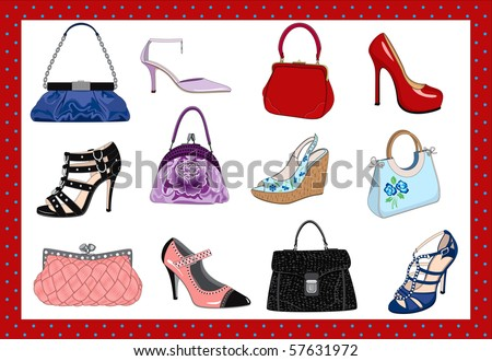 Ladies bags and shoes