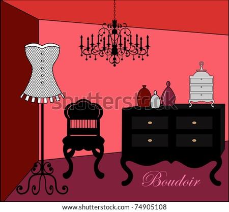 ladies dressing room   boudoir