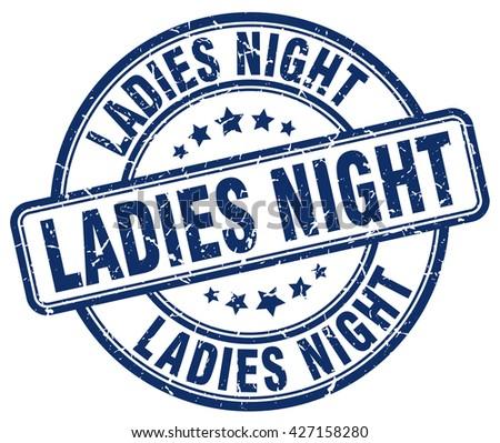 ladies night blue grunge round