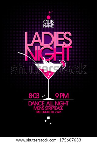 ladies night party design with