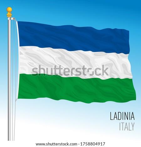 Ladina unofficial flag, Italy, vector illustration Stok fotoğraf ©