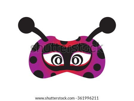 lady bird party mask face