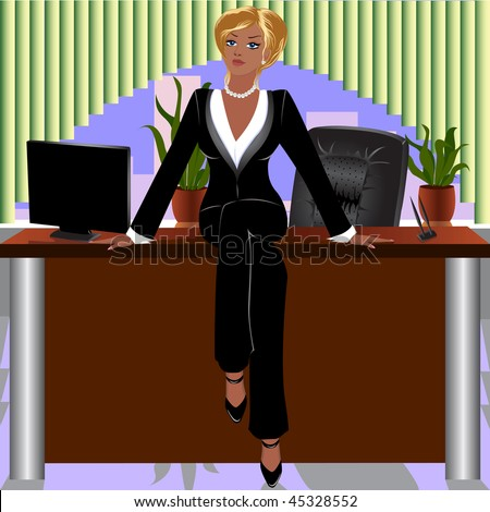 stock vector : Lady-boss.