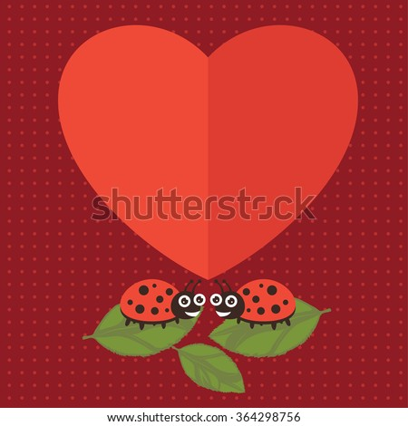 lady bug happy valentine
