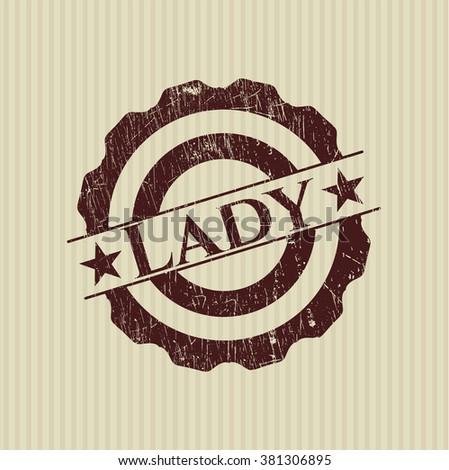 Lady grunge stamp
