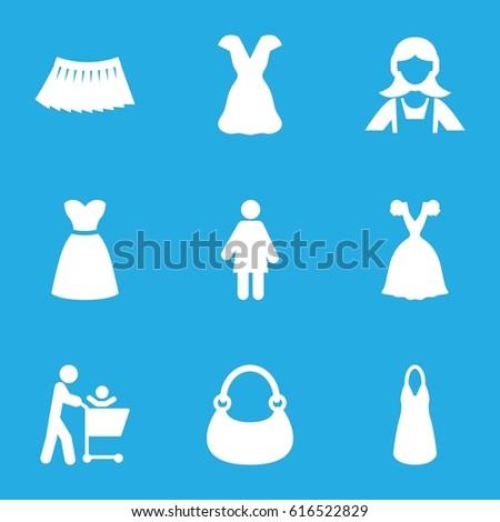 lady icons set set of 9 lady