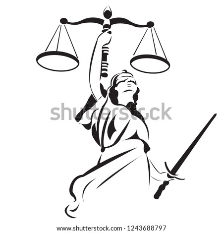 Lady Justice is a common sight on courthouses and legal institutions. Themis, the Greek goddess of justice and law, commonly known for her clear-sightedness. ストックフォト ©