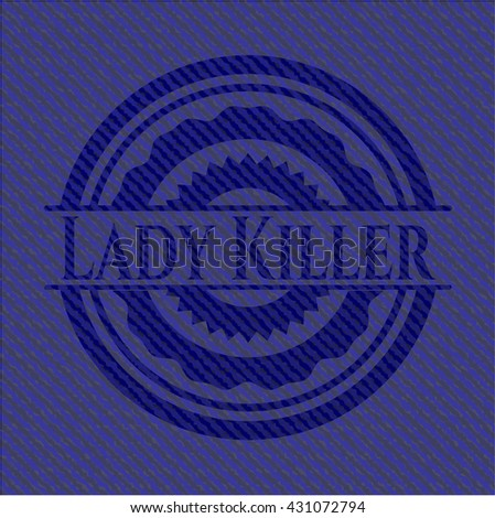 Lady Killer badge with jean texture