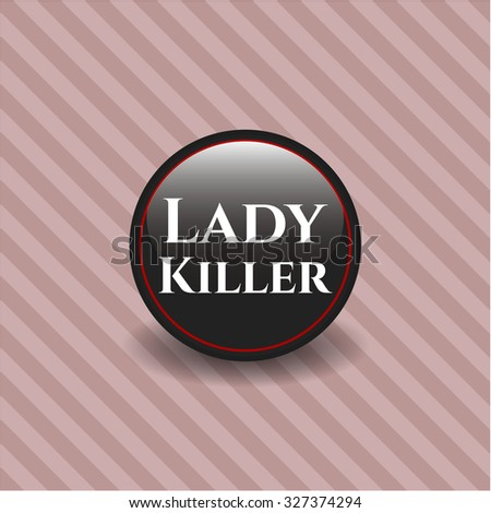Lady Killer black emblem or badge, modern style