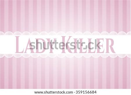 Lady Killer card, colorful, nice design