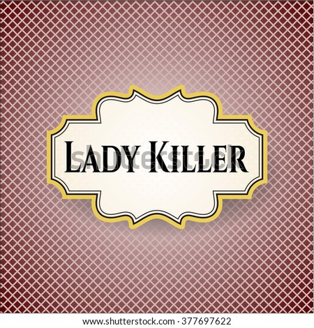 Lady Killer colorful card, banner or poster with nice design