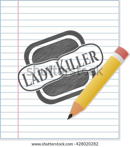 Lady Killer draw (pencil strokes)