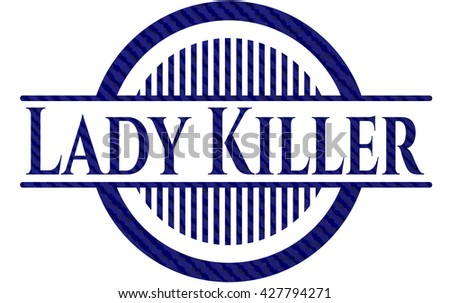 Lady Killer emblem with denim high quality background