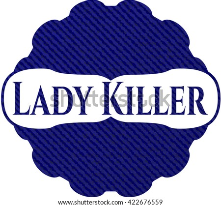Lady Killer emblem with jean background