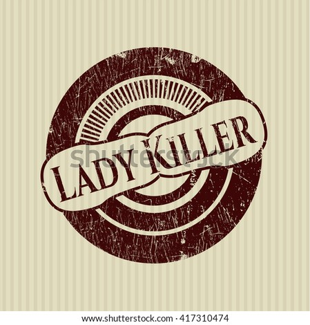 Lady Killer rubber grunge seal