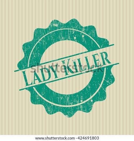 Lady Killer rubber stamp
