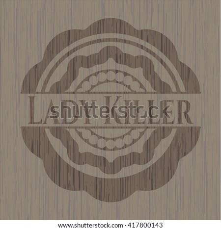 Lady Killer wood emblem. Retro