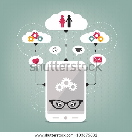 lady's smart phone concept