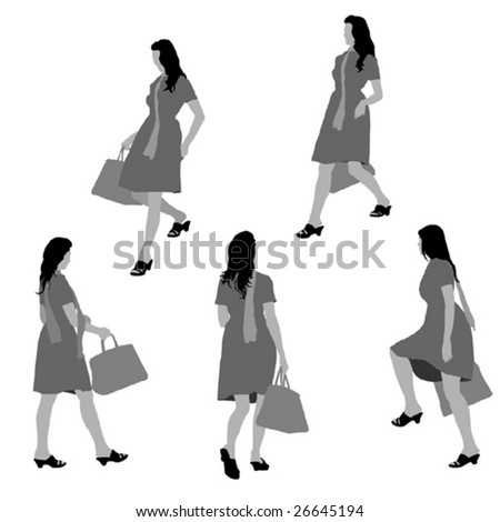 lady shopping, collection for designers