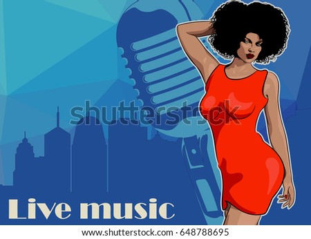 lady singer soul music  red