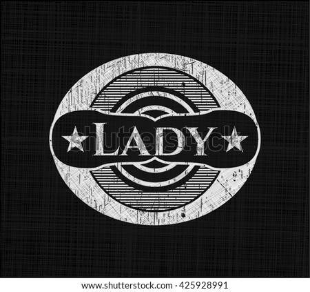 Lady with chalkboard texture