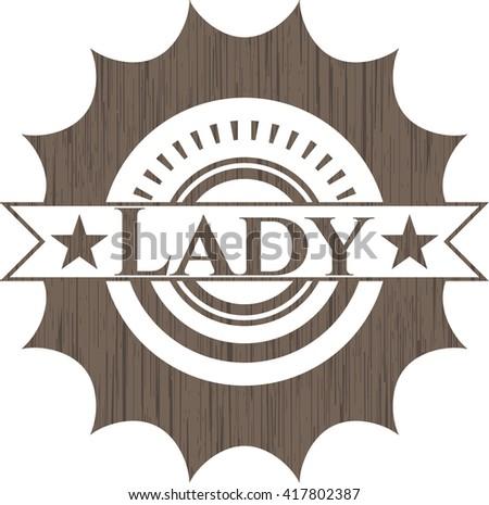 Lady wood emblem