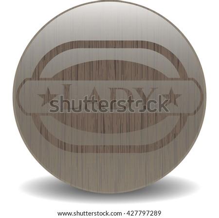 Lady wood icon or emblem