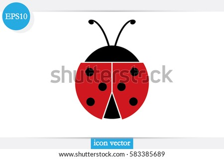ladybird icon vector