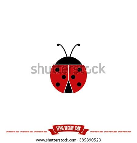 ladybird icon vector