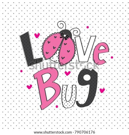 ladybug cartoon vector