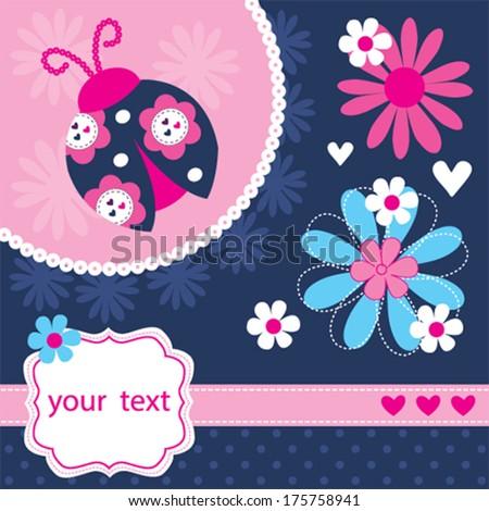 Royalty free cute ladybug background invitation card 173719295 ladybug greeting card vector illustration 175758941 stopboris Image collections