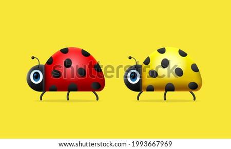 ladybug red and yellow