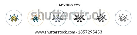 ladybug toy icon in filled