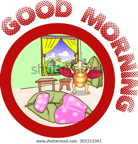 ladybug wake up in the morning