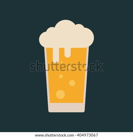 Lager beer icon. Vector beer. Glass with beer isolated on background