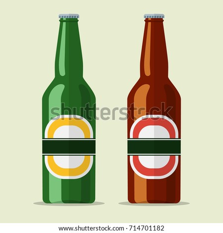 lager bottle beer icon isolated