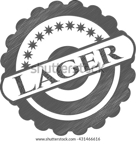 Lager with pencil strokes
