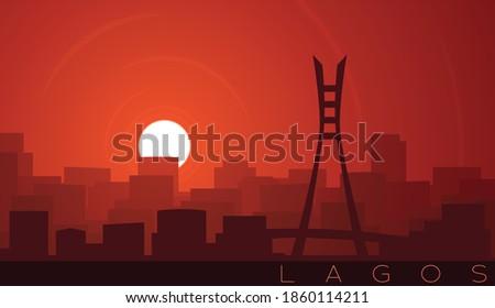 Lagos Low Sun Skyline Scene Foto stock ©