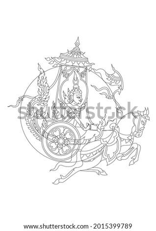 laithai pra atit songratcharot symbol in culture of thailand Foto stock ©